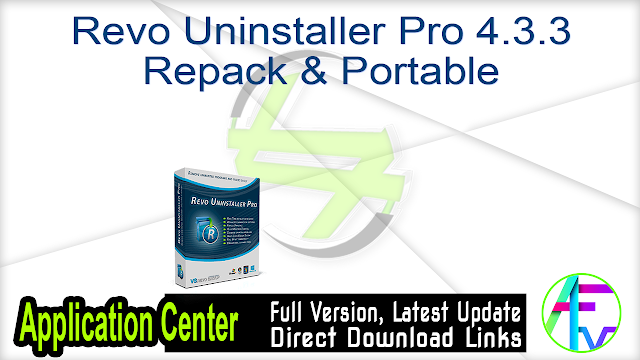 Revo Uninstaller Pro 4.3.3 Repack & Portable