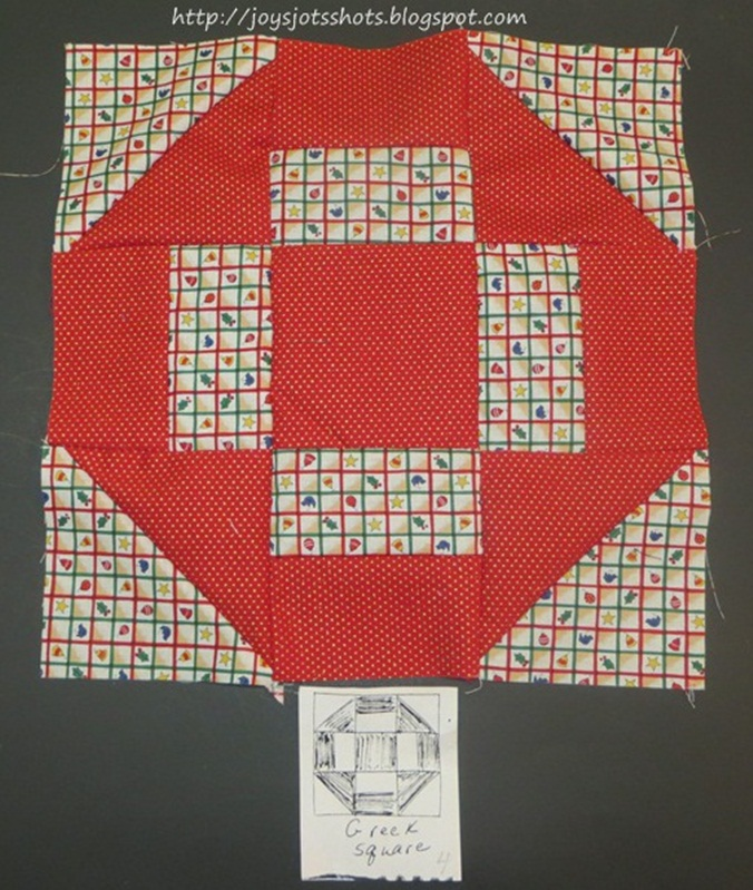 http://joysjotsshots.blogspot.com/2013/07/quilt-block-shot-5-greek-square.html