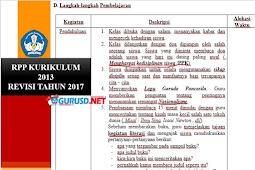 RPP Kurikulum 2013 Revisi 2017 Format Baru Dari Integrasi Berbagai Program