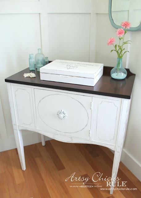 white buffet, white sideboard, white painted furniture