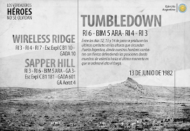 ÚLTIMOS COMBATES TUMBLEDOWN - WIRELESS RIDGE - SAPPER HILL (12-13-14/ 06/1982)
