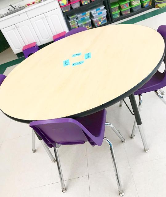 """18"""" purple classroom chairs"""
