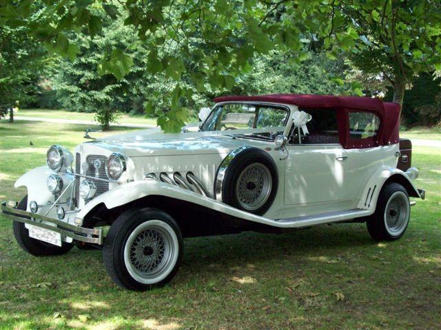 classic wedding car