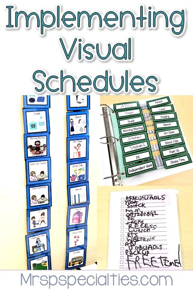 Visual schedules can be a powerful tool for helping students be more successful and independent in their school day. There are many different types and ways to use schedules in your classroom.