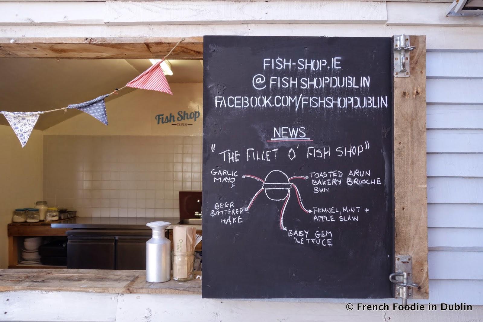 Fish Shop Dublin Menu