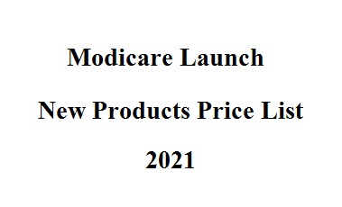 Modicare Launch New Products Price List 2021