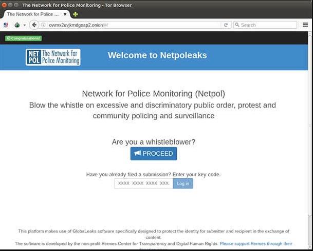 موقع الشرطة على الديب ويب