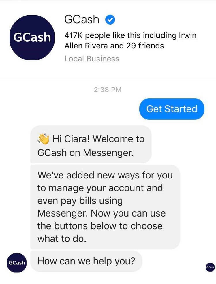 GCash Transaction Now Accessible on Facebook Messenger