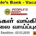 People's Bank - Vacancies