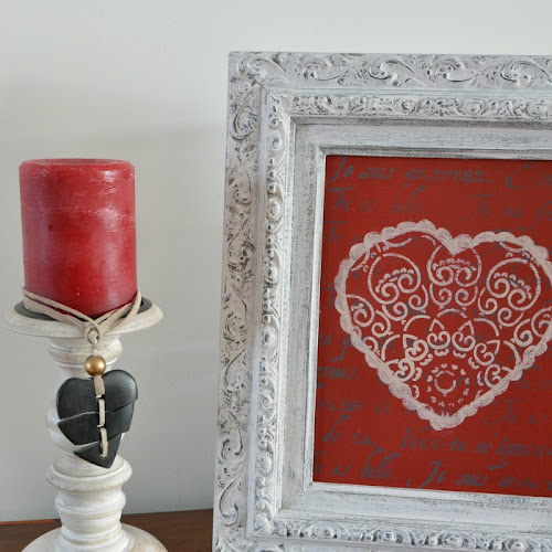Upcycled Thrift Store Picture Frame Valentine Decor