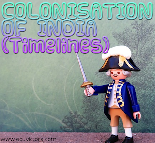 CBSE Class 8 - History -   Chapter 2: From Trade to Territory - COLONISATION OF INDIA (Timelines) (#cbseNotes)