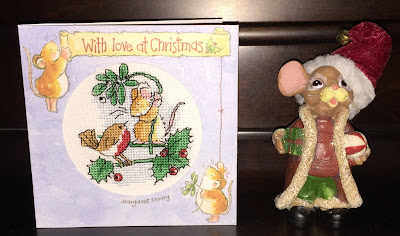 Margaret Sherry Cross Stitched Christmas Card