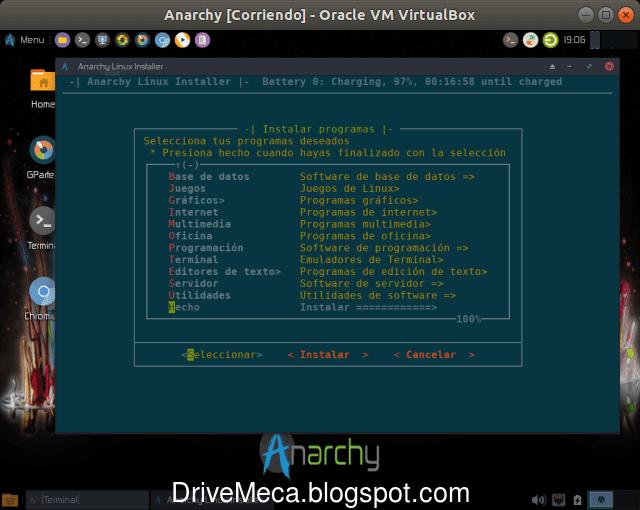 Continuamos la instalacion de Anarchy Linux