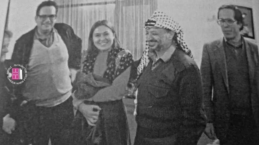 Antonia Ferrari con Arafat, Ettore Mo e Giiorgio Giaccaglia