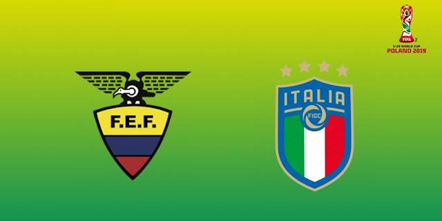 hora del partido Ecuador vs Italia