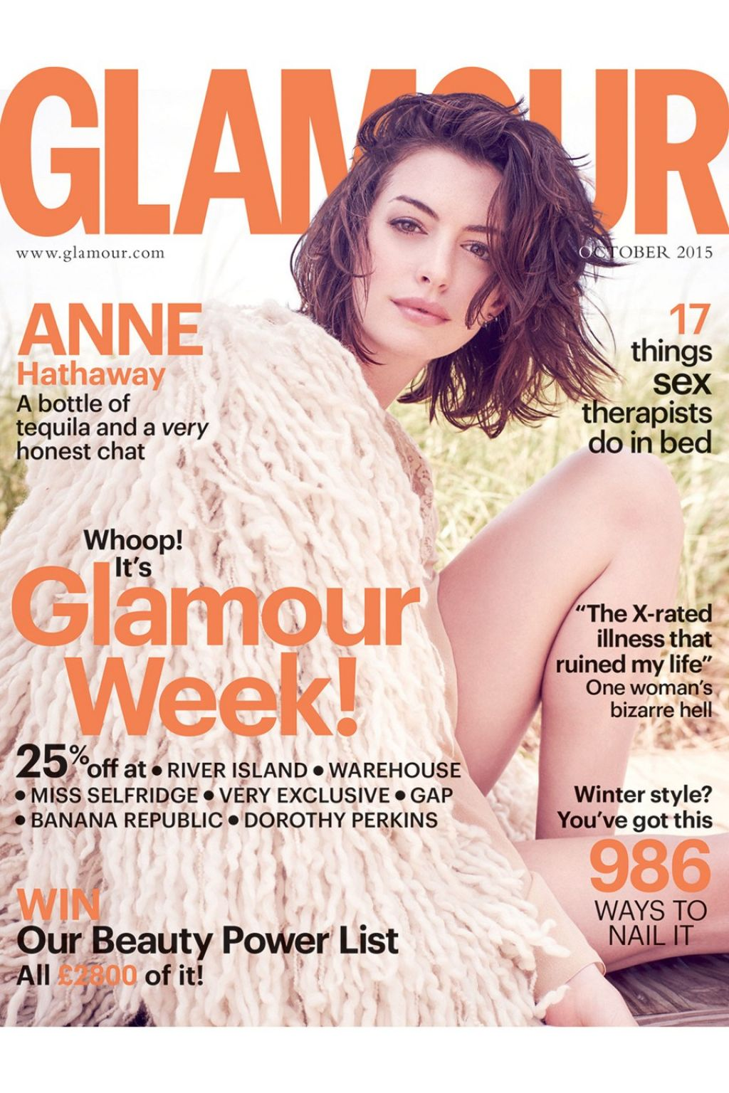 Anne Hathaway opens up about career in Glamour Magazine