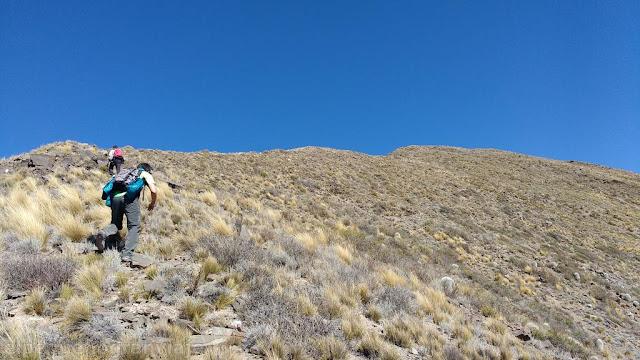 Ascenso, trekking, Cerro la Tordilla, filo, tordilla