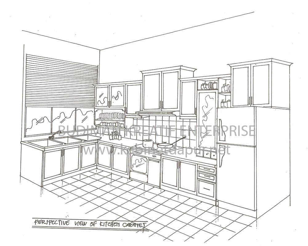 Lukisan Kabinet Dapur Desainrumahid