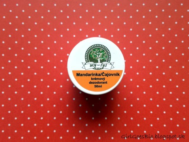 My sys prirodny kremovy deodorant mandarinka a cajovnik