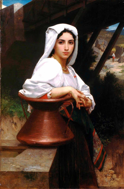 Адольф Вильям Бугро - Итальянская девушка у колодца (1871)