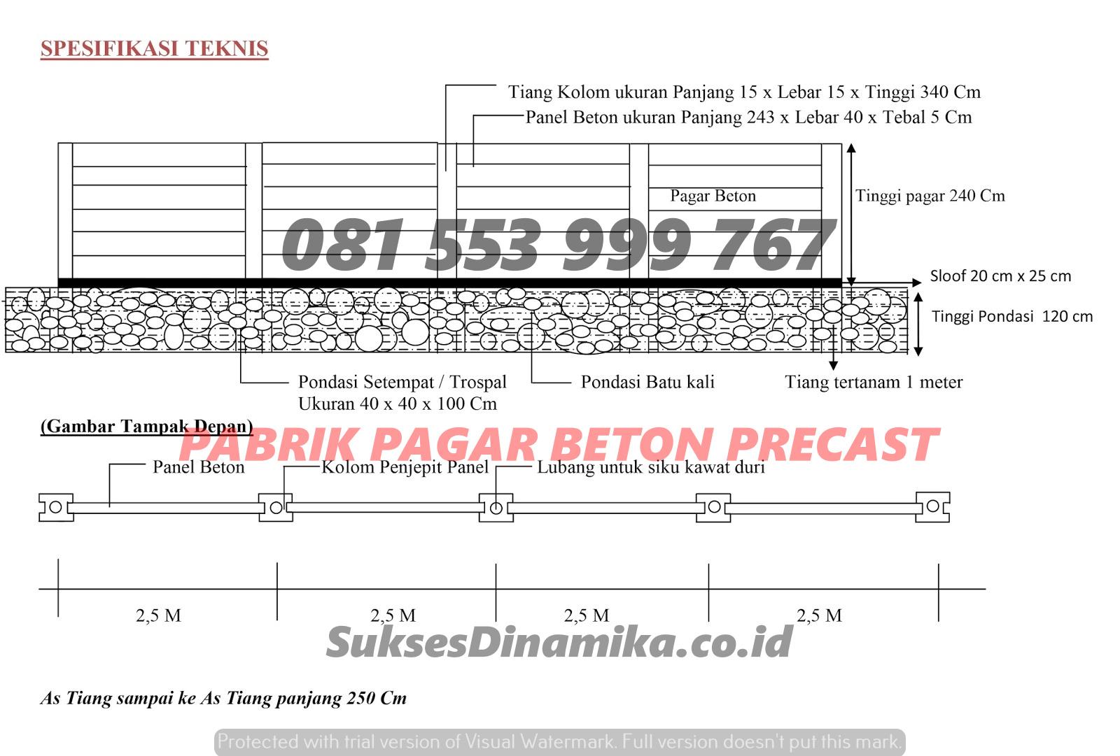 Harga Pagar Beton Mojokerto, Pabrik Tiang Beton