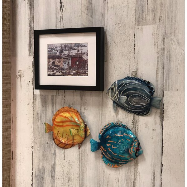 Coastal Discus Fish Metal Wall Decor 3 of 4