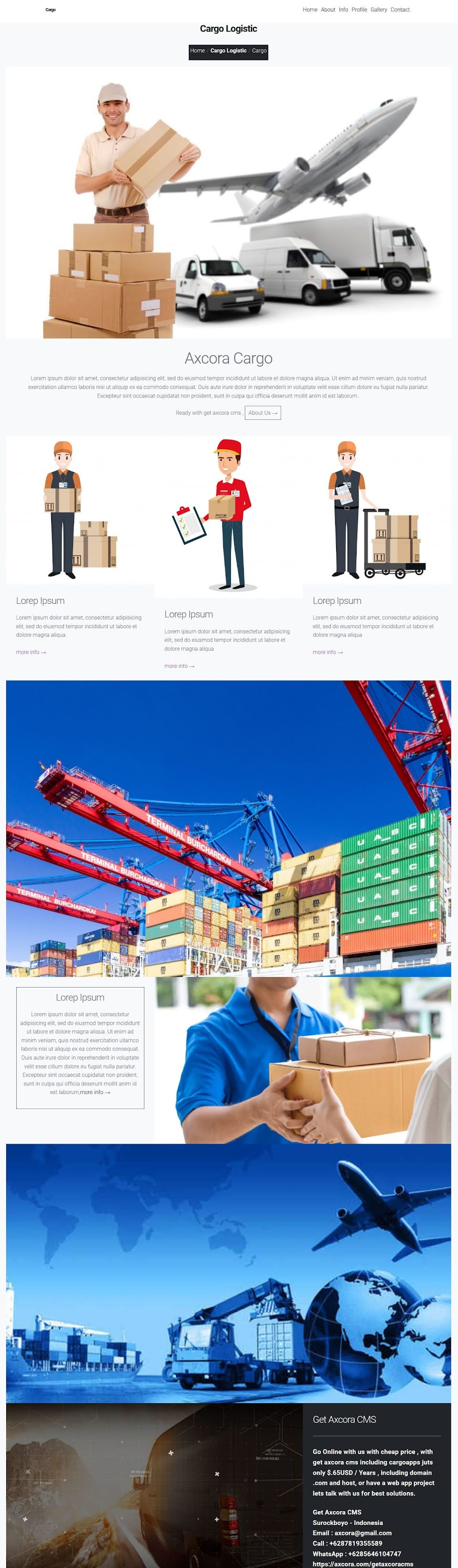 pembuatan website ekspedisi cargo kargo murah