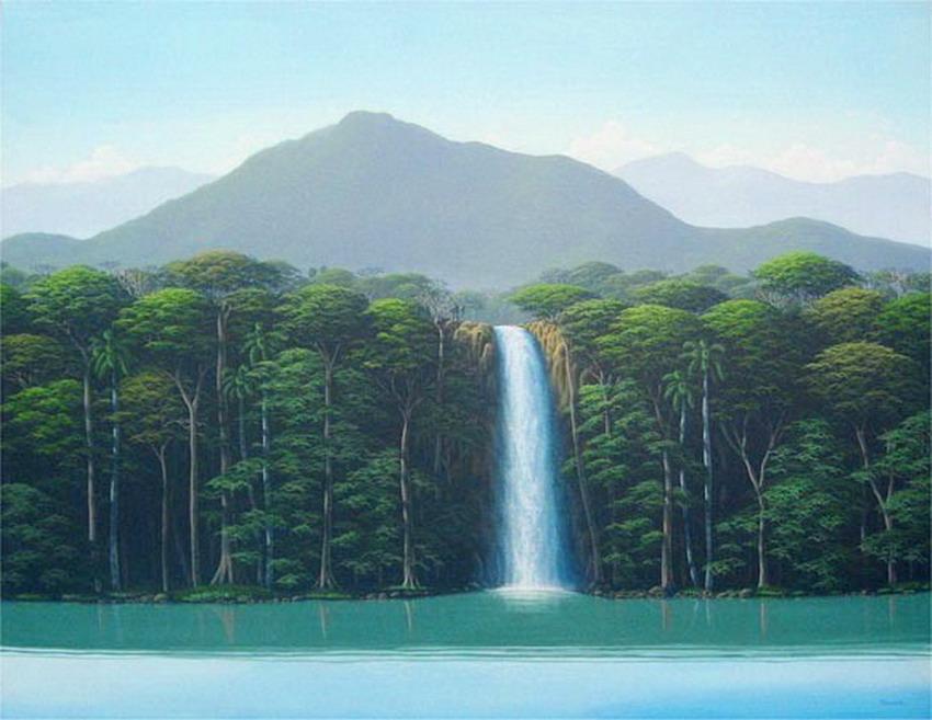 Cuadros modernos vistas de hermosos panoramas de la selva - Donde estudiar pintura ...