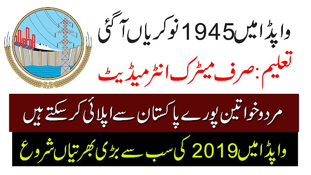 WAPDA August Jobs 1945+Vacancy Apply Online