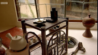 Inside the teahouse