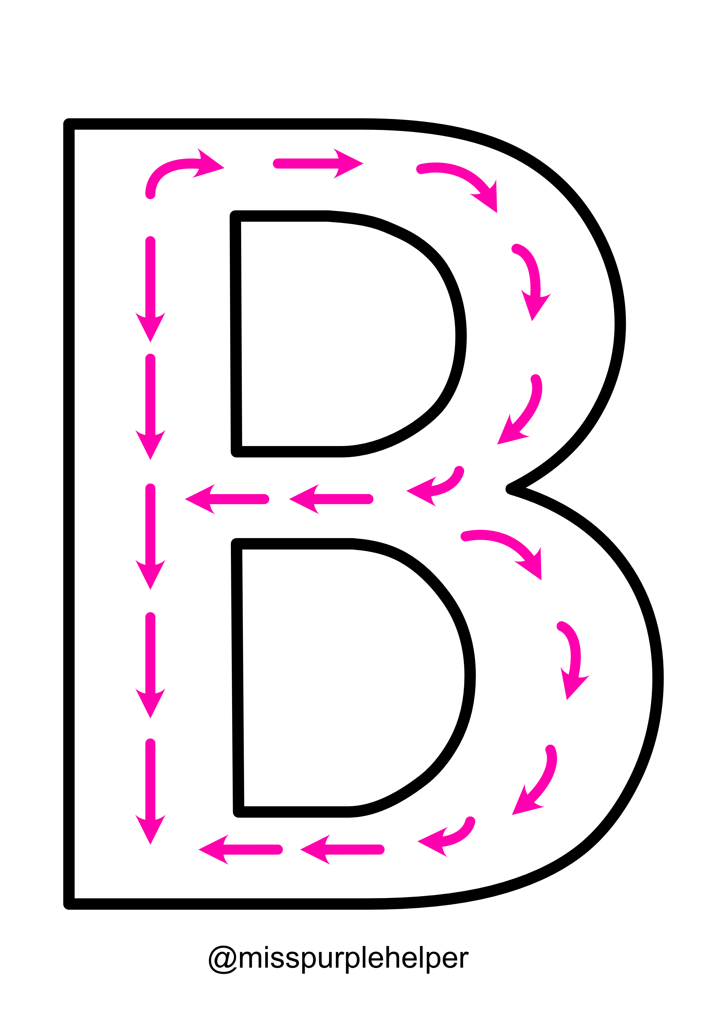 Writing Letters Letter Bb Worksheets