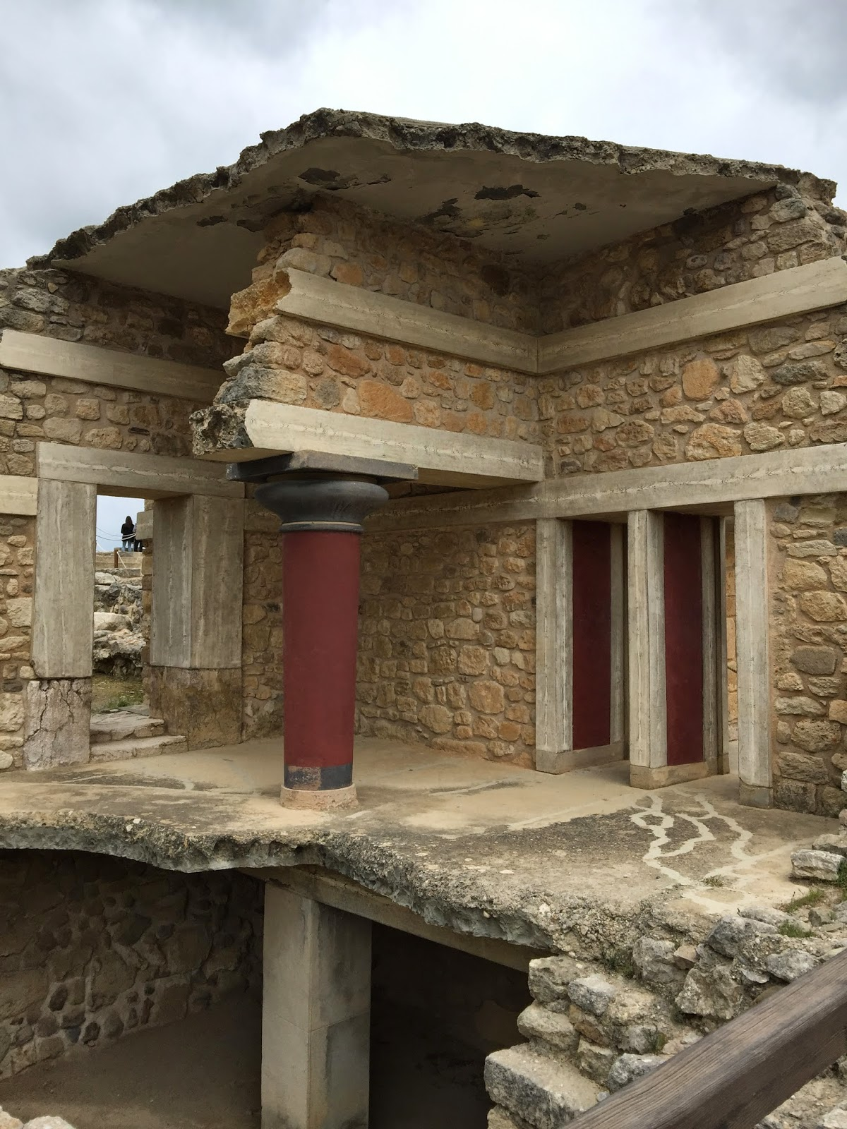 Knossos Palace ruins on Greek island of Crete