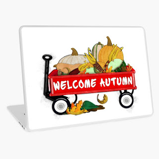 Welcome Autumn Digital Watercolor Laptop Skin