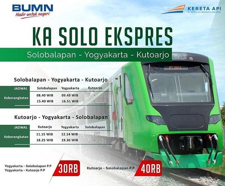 Jadwal Dan Harga Tiket Ka Solo Ekspres Solo Kutoarjo Pp 2019