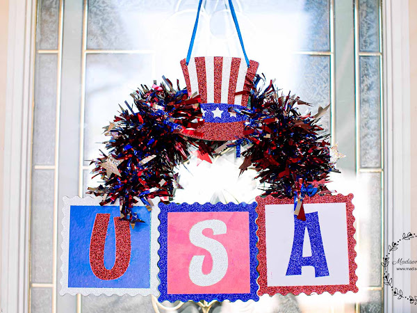 Make this Dollar Store 4th of July Wreath for Under $5