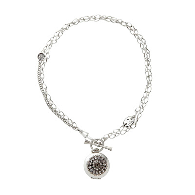 Fossil Holiday Black Diamond Locket Necklace