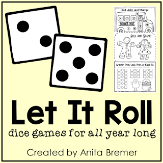 Dice games as math centers for Kindergarten