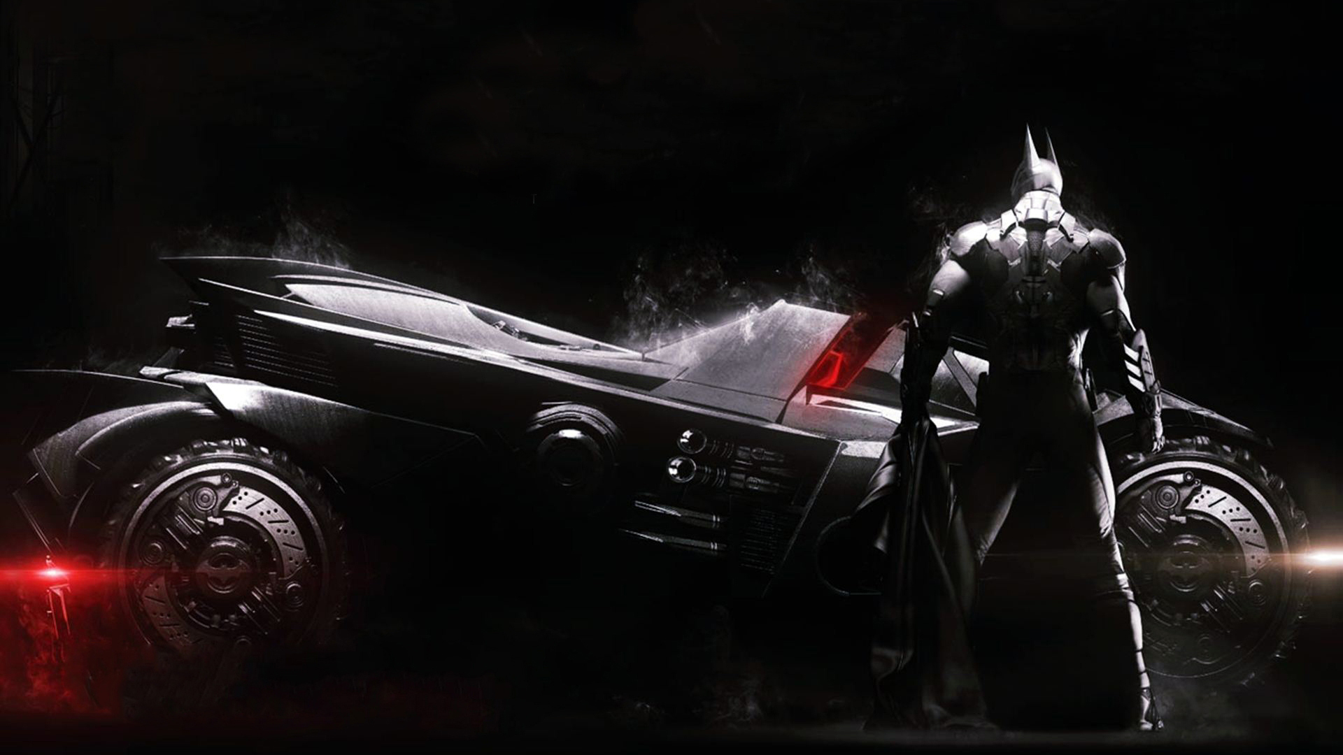 Batman and New Batmobile 2r Wallpaper HD