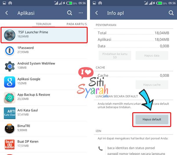 hapus default aplikasi android