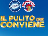 Logo Chanteclair e Quasar '' Il pulito che conviene'': in omaggio sicuro un carnet da 10€ in buoni spesa