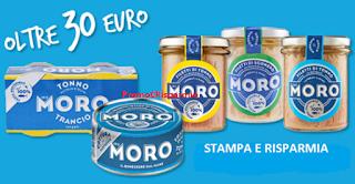 Logo Stampa i buoni sconto Tonno Moro e partecipa al concorso