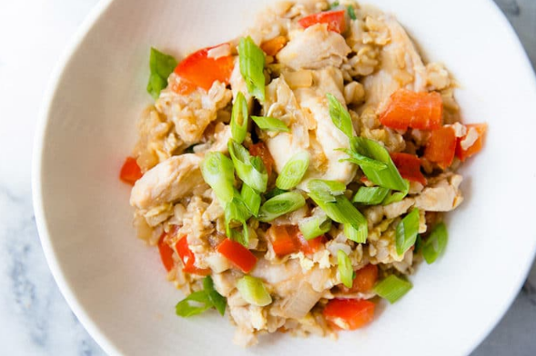 Clean Eating Chicken Fried Rice #dinner #eating