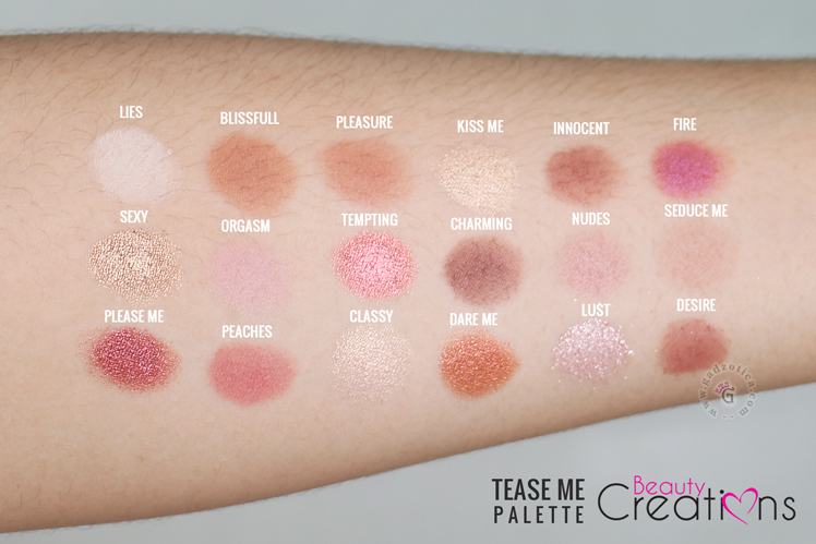 Beauty Creations Tease Me Palette Review