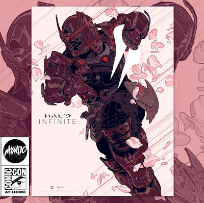San Diego Comic-Con 2021 Exclusive Halo Infinite Yoroi Spartan Timed Edition Screen Print by Sachin Teng x Mondo