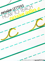 How to teach kids to write letter c in cursive