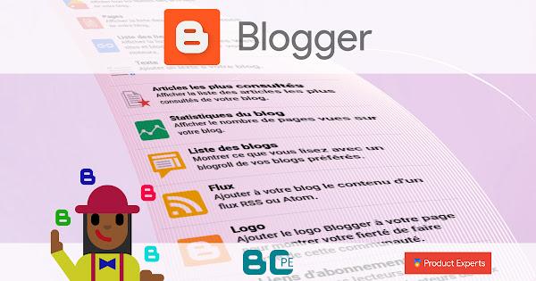 Introduction aux gadgets Blogger