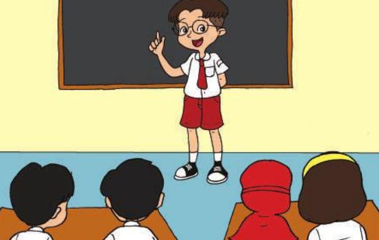 Tips Agar Siswa Percaya Diri Untuk Maju Ke Depan Kelas Gambar Kartun Kartun Gambar