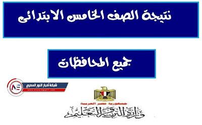 نتيجة الصف الخامس الابتدائي الترم الثاني 2021 بالاسم الرباعي و رقم الجلوس عبر موقع بوابة التعليم الأساسي cairogovresults