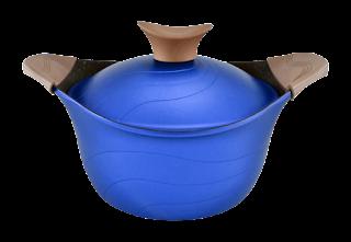 حلة جرانيت تيتانيوم من نيوكلاين CS20-Blue، 20 سم - ازرق