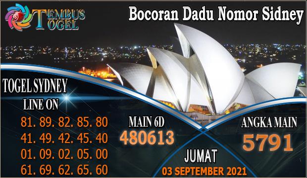 Bocoran Dadu Nomor Sidney, 03 September 2021 Tembus Togel